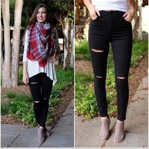 Denim - ▪️ High waisted black skinny jeans